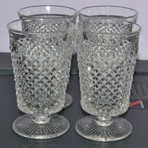 Westmoreland Glassware English Hobnail Set of 4 Small Drinking Glasses - $18.37