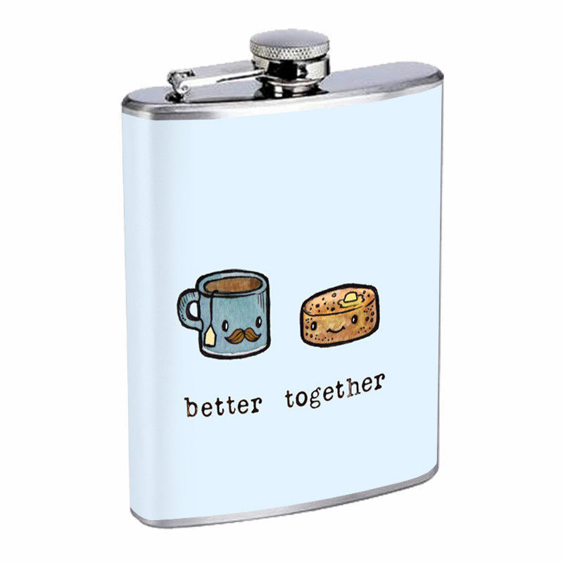 Better Together Em17 Flask 8oz Stainless Steel Hip Drinking Whiskey