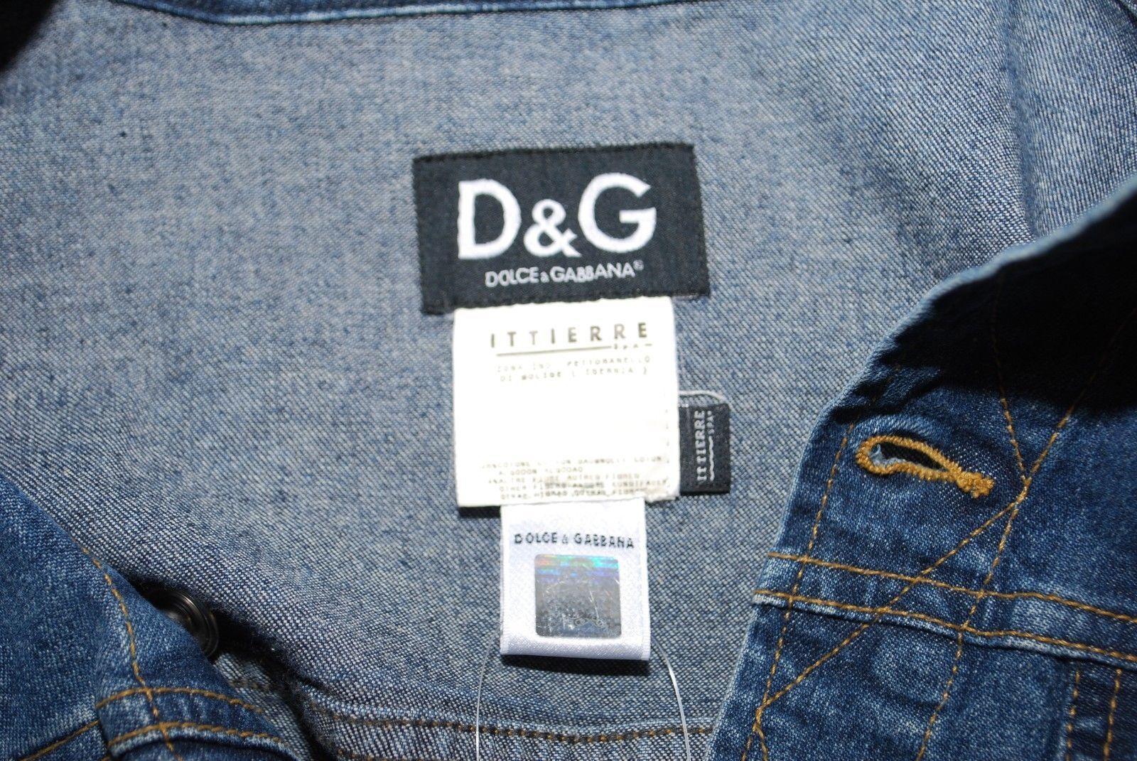 Dolce & Gabbana Blue Cotton Denim Jacket Long Sleeve Button Down Jean Bomber S