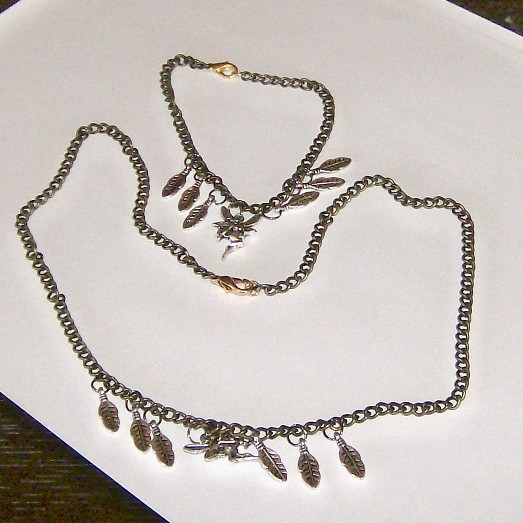 Fairies and feathers with lobster claw clasp necklace 20.5""