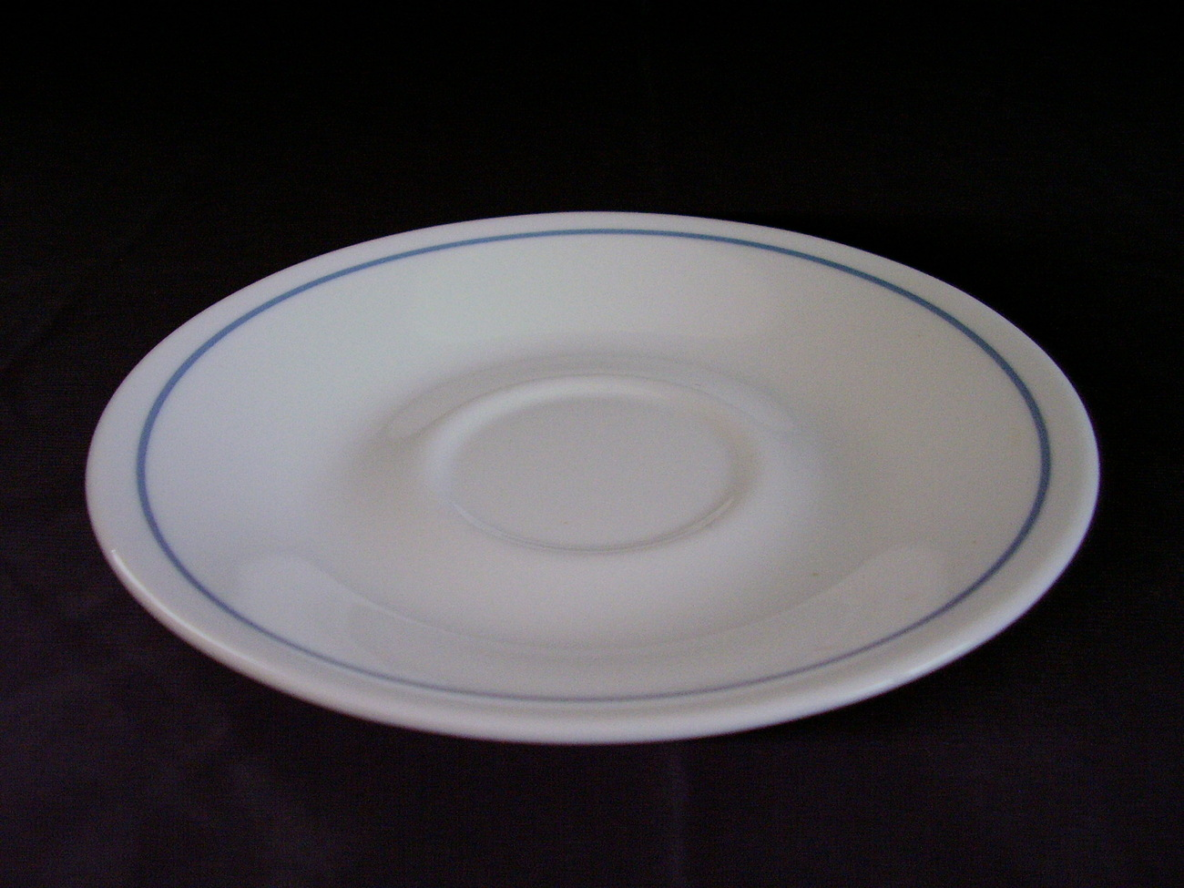 Corelle Queens Lace Saucer White Blue Band