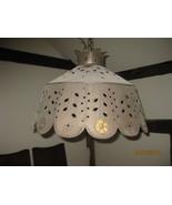 Vintage Pierced Tin hanging light fixture - $175.00