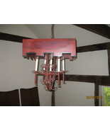 Red Tole 5 light Chandlier - $450.00