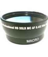 Wide Lens for Canon VIXIA LEGRIA HF M52 M50 M56 M506 M500 HFM52 HFM50 HFM56 - $19.35