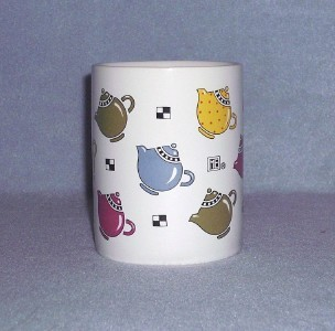 Mary Engelbreit Ink Teapots Coffee Cup Mug