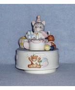 "Schmid Cucumber Kitty ""Happy Birthday"" Music Box Nbr.19898 - $14.99"