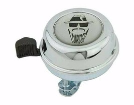 PREMIUM STEEL LOWRIDER  Bicycle Bell 55 MM LONG IN CHROME With Black Logo - $19.07