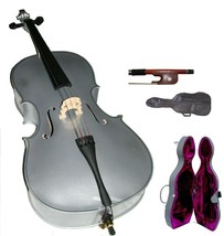Crystalcello MC150SV 1/4 Size Silver Cello with Case,Bag,Bow - $180.00