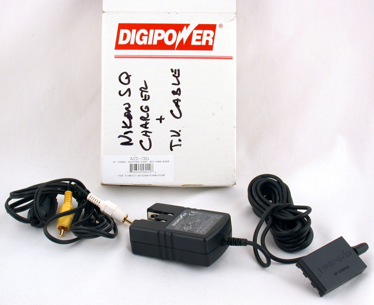 Digipower Battery Charger AC Power Adapter ACD-CN1 TV Cable