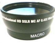Wide Lens For Panasonic SDRH18 SDRH200 SDRS100 VDR-D250