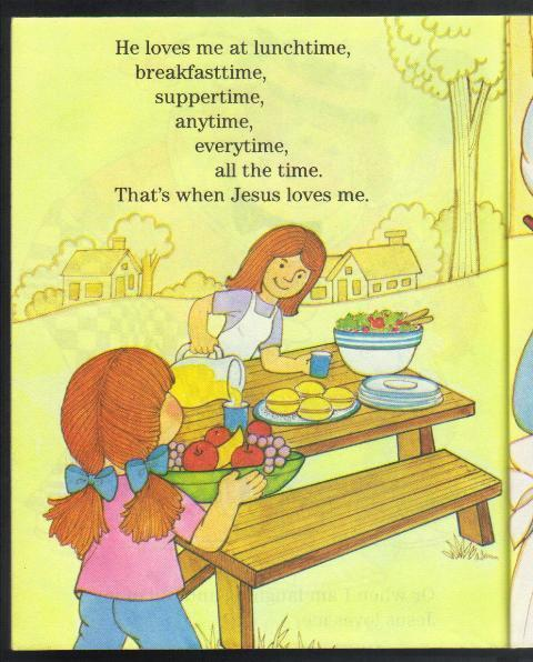 Jesus Loves Me All The Time, A Happy Day Book, # 3711, 1984