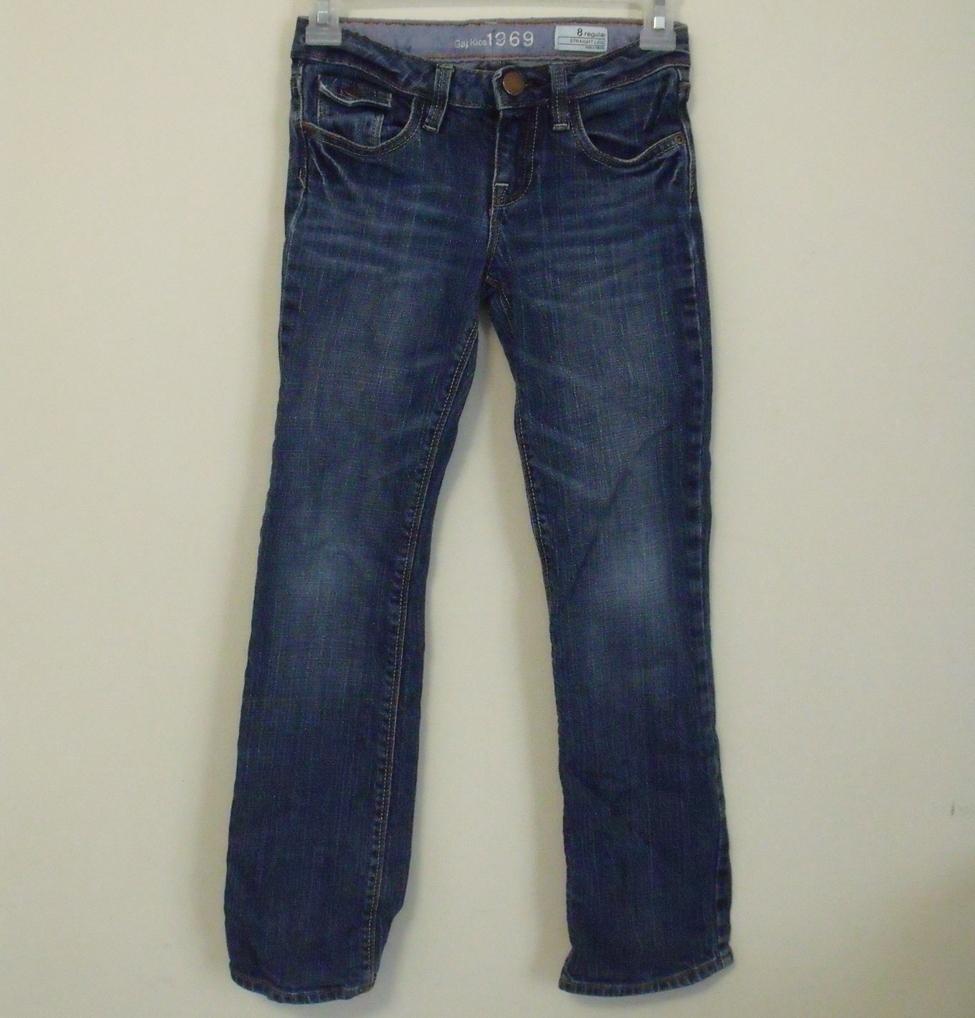 Girls gap kids jeans straight leg size 8