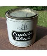 vintage captain black smoking mixture tin can - $20.00
