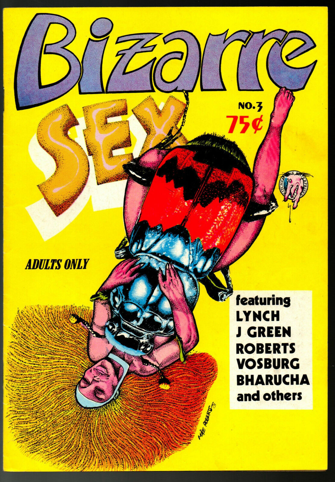 Bizarre Sex #3, - 4th print 1973 Kitchen Sink, vintage Underground Comix - obo
