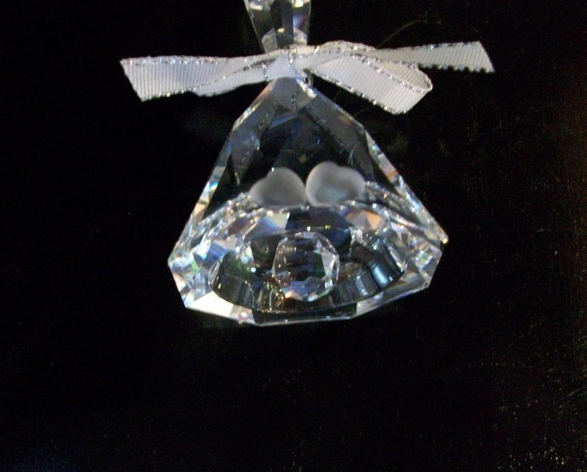 Preciosa Crystal Wedding Bell/Table Bell, New in Box