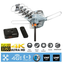 150Mile 1080P 4K HDTV Outdoor Antenna 360 Degree Rotation w/ RG6 Coax Cable - $34.99