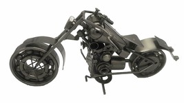 Collectible Art Sculpture Handmade Metal Motorcycle - $83.64