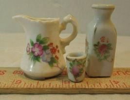VINTAGE Miniature / FLOWER  VASE PITCHER CUP PORCLAIN  - $14.85