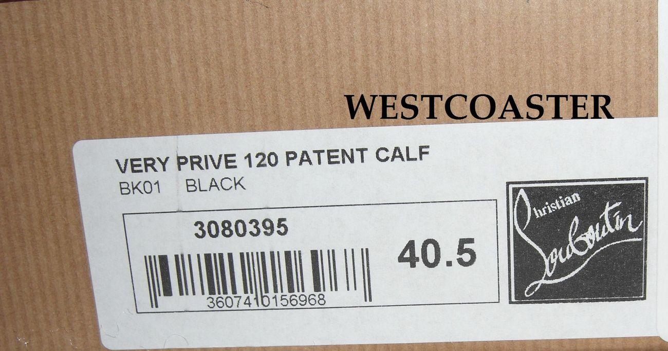 CHRISTIAN LOUBOUTIN patent Very Prive / VP *black* 40.5 NIB