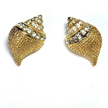 Vintage KJL Kenneth J Lane CONCH Shell Brooch Pin Pendant AND Post Earri... - $59.99