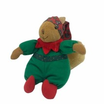 Hallmark Scofield Squirrel Santa's Little Friends Small Plush Elf Hat With Bell - $11.53