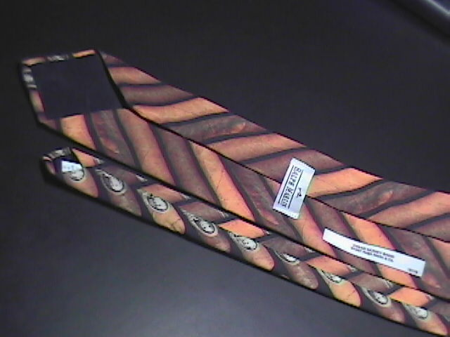 Ralph Marlin Neck Tie Cigar Money Band 1997 Cigar Bands on Black Background