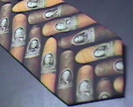 Ralph Marlin Neck Tie Cigar Money Band 1997 Cigar Bands on Black Background image 6