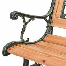 vidaXL Patio Wooden Garden Bench w/ Backrest Vintage Seat Diamond/Rose Design image 5