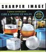 Cube & Sphere Ice Molds From Sharper Image - $9.00