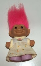 Russ Girl Troll in Yellow Dress Purple Shoes  - $9.00