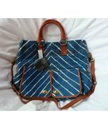 Hayden Harnett Chevron  Langley  Leather Handbag Tote New - $180.00