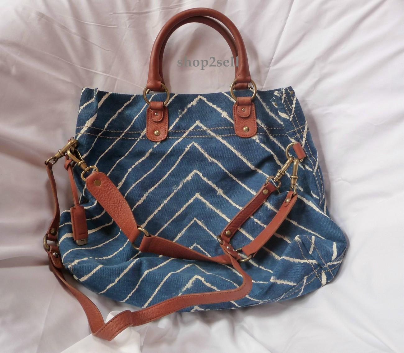 Hayden Harnett Chevron  Langley  Leather Handbag Tote New