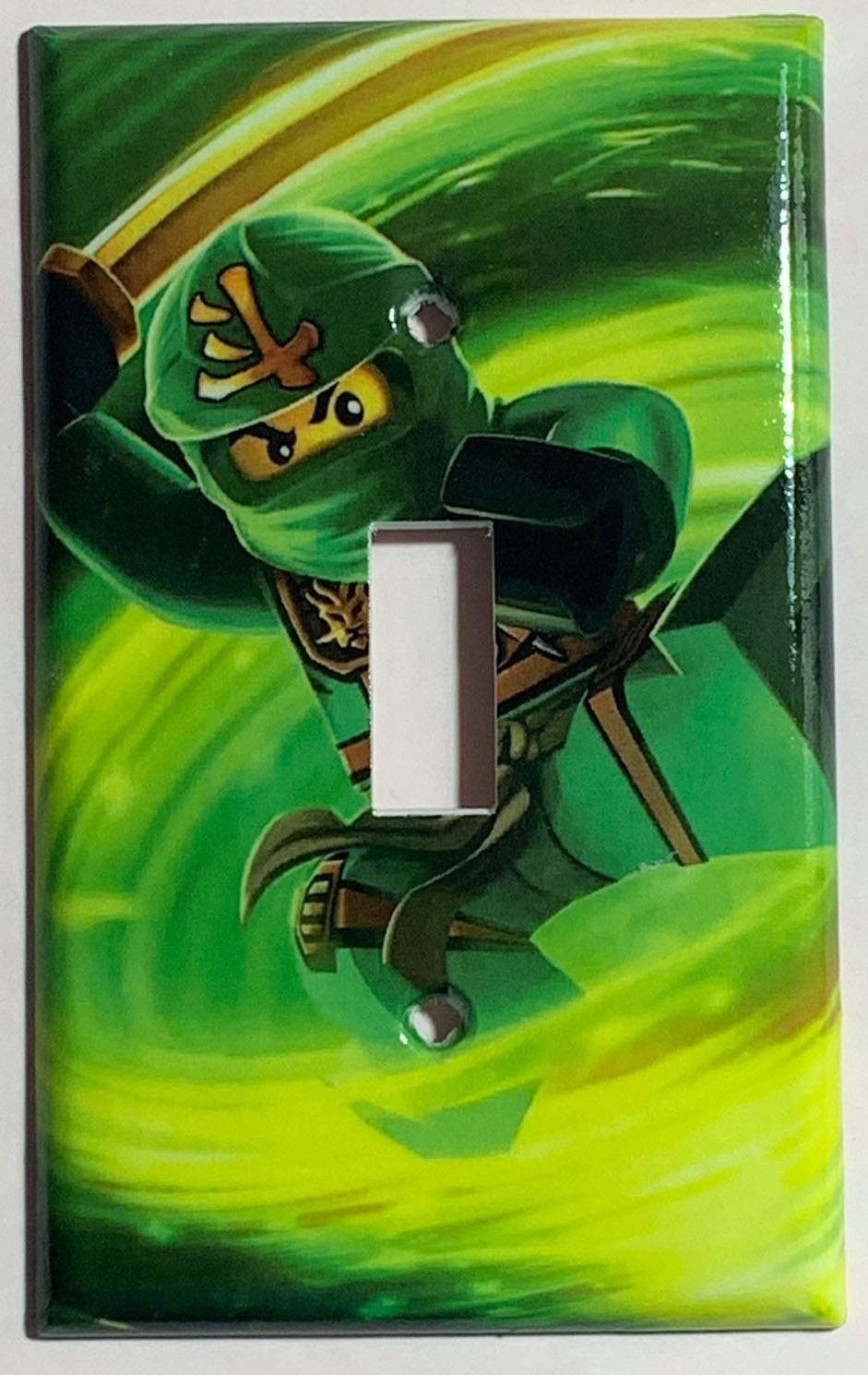 Ninjago LLOYD green Light Switch Outlet duplex wall Cover Plate Home Decor