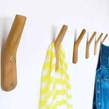 Coat Rack Hooks UMZi Wall Mounted Handmade Beech Wood Hook Pack of 2Modern Woode