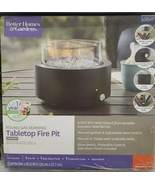 BETTER HOMES AND GARDEN ROUND GAS PROPANE BURNING TABLETOP PATIO FIRE PIT - $99.00