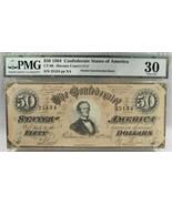 1864 $50 CT-66 Confederate Civil War Counterfeit Banknote Hoard PC-179 - $218.17
