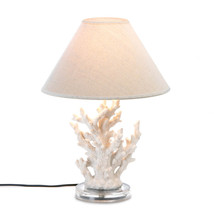 Desk Lamp, Contemporary White Coral Small Table Lamps For Bedroom - $60.73