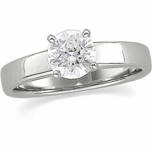 ROUND Diamond Engagement Ring 0.94 Ct F SI2 EGL Cert