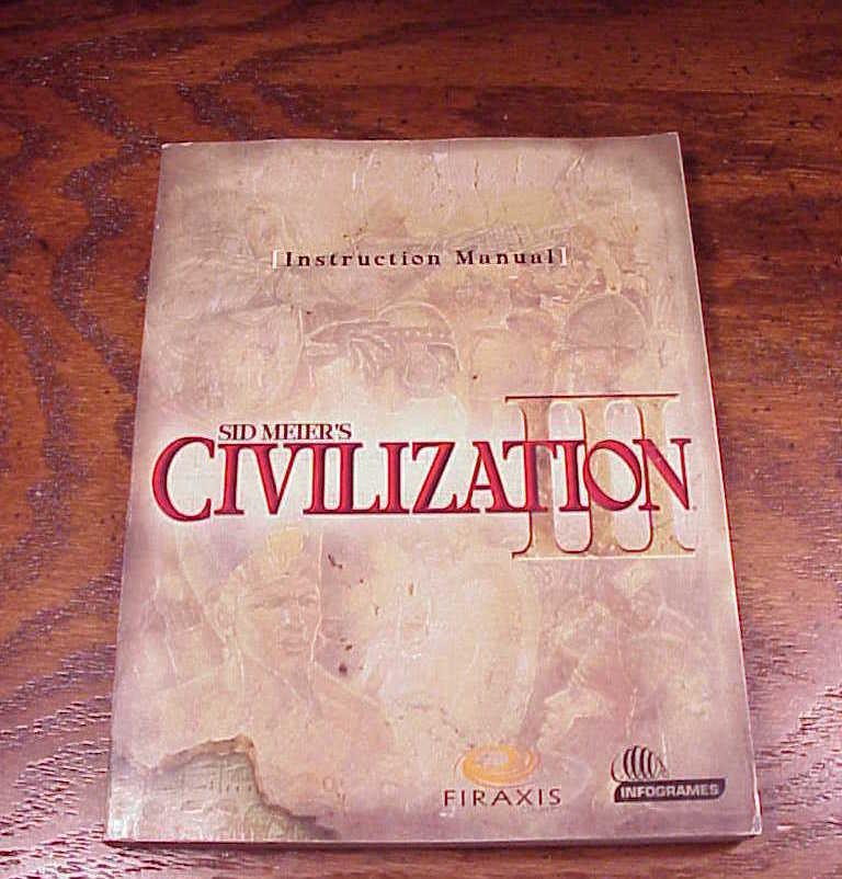 civilization iii pc game instruction manual and 50 similar items rh bonanza com civ 4 manual pdf civ3 conquests manual