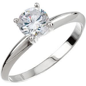 ROUND Diamond Engagement Ring 2.12 Ct F SI2(LASER-DRILL