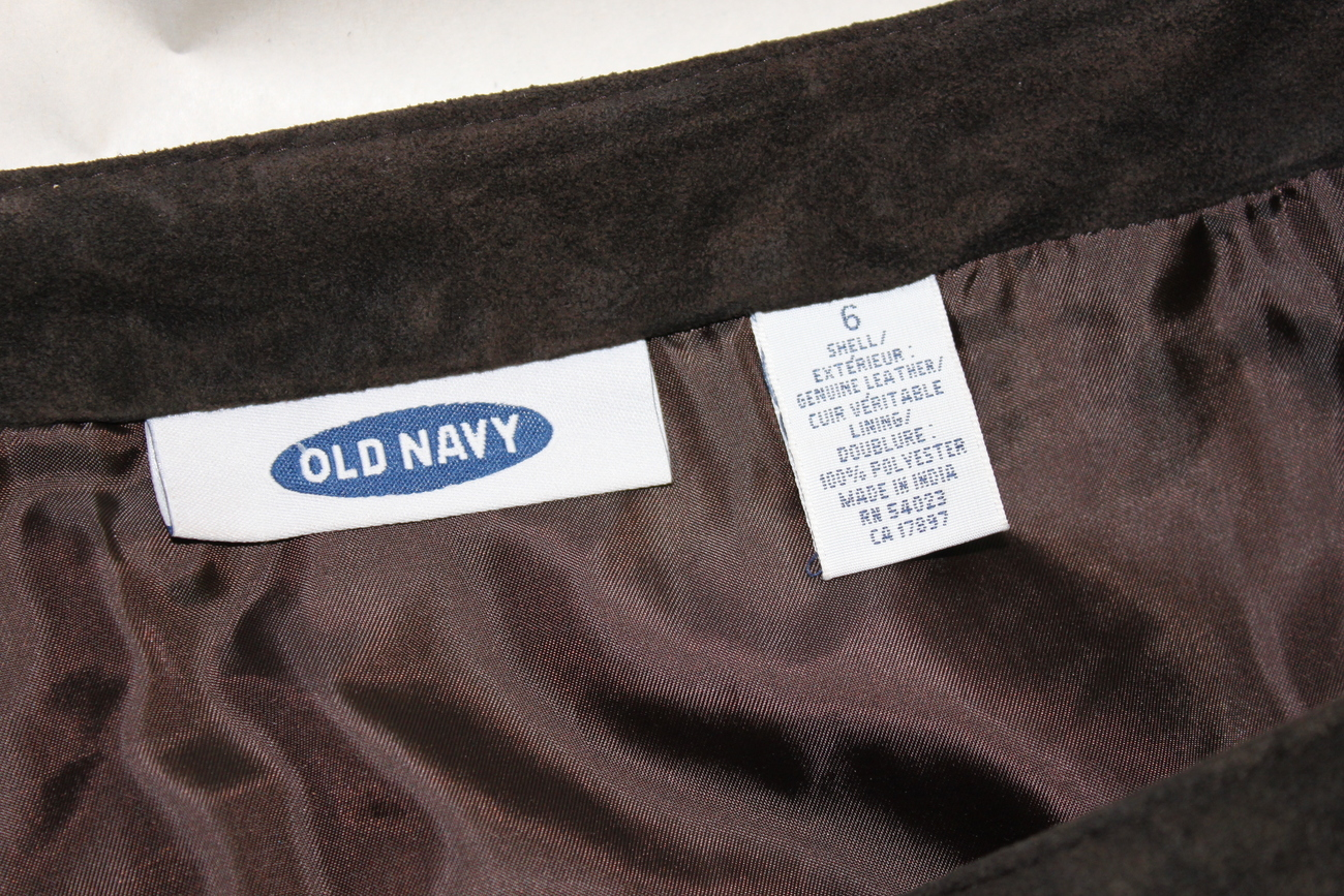 Old Navy Brown Leather Short Skirt Size 6