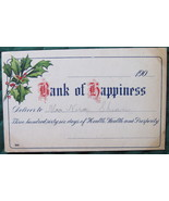 Antique, Leap Year, Christmas Post Card, Bank of Happiness ( - $8.00