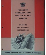 Ferguson B-FO-20 Terracer/Scrape Blade Assembly/Operator's Manual - 1946 - $12.00