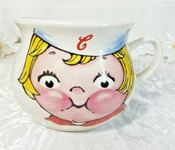 "Large Campbell's Kid Face Soup Mug Soup Mug Bowl Vintage 1998 4"" x 6.5"" x 5 1/4"""