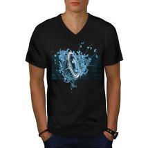 Speaker Dance House Music Shirt Bass Line Men V-Neck T-shirt - $12.99+