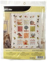 Bucilla Woodland Baby Crib Cover Stamped Cross Stitch 46186  34 x 43 Finished - $36.38