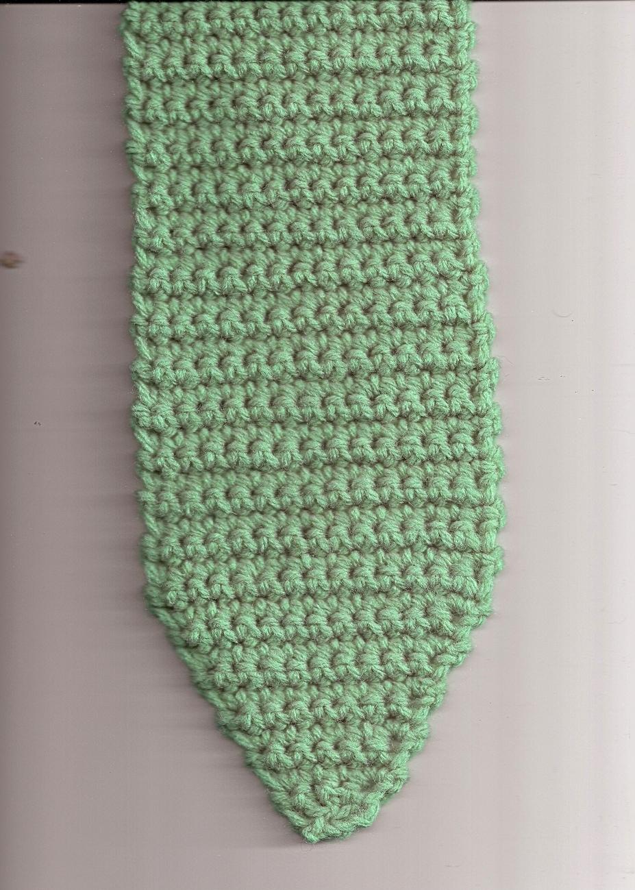 Crochet Green Snake Scarf Handmade Unique Pattern Warm & Toasty