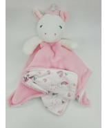 Carter's Just one you Unicorn Lovey Security Blanket Pink White Rainbows... - $49.99