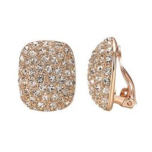 Yoursfs Clip Earrings For Women With Round Austrian Crystals Non Pierced... - $16.52