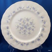 "Paragon Petit Fleurs Dinner Plate White Bone China Blue Flowers Gold Trim 10.75"" - $25.74"